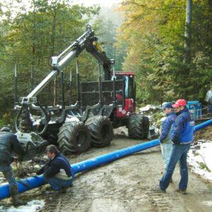 Leitungssanierung im Böhmerwald